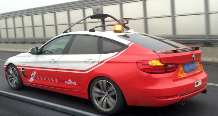 Coche sin conductor de Baidu realiza sus primeras pruebas de carretera en Beijing (China)