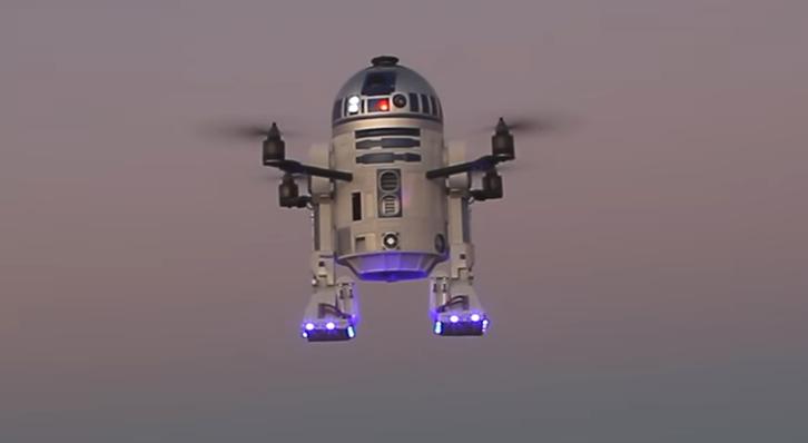 Usuario diseñó y fabricó un dron modelo R2-D2