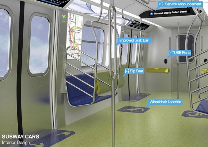 Renovado metro de Nueva York tendrá WiFi, puertos USB y pantallas digitales