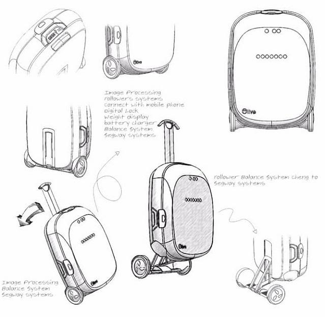 Olive, la primera maleta inteligente que sigue a su propietario por todos lados