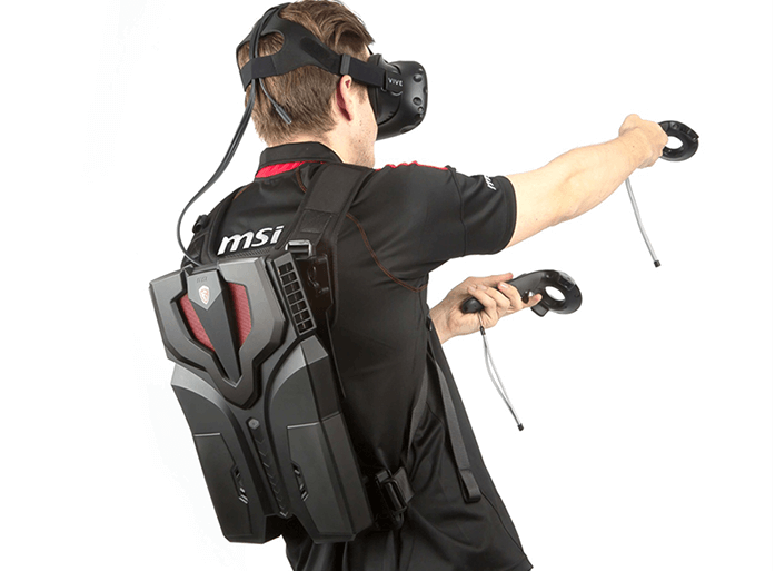 MSI VR One, una PC mochila para realidad virtual