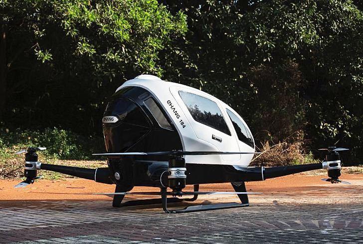 """El """"taxi dron"""" Chino hará su estreno mundial en Dubai"""