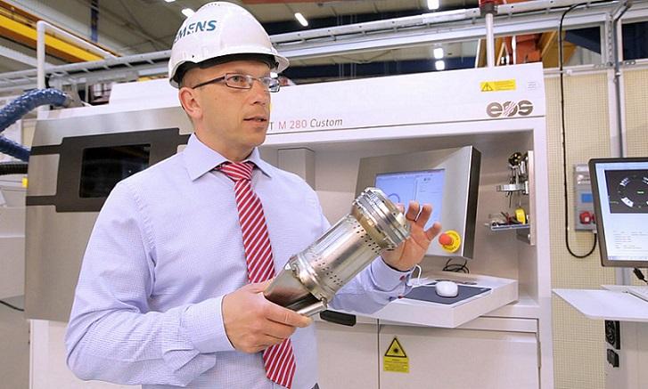 La impresión 3D produce componentes de una turbina gigante