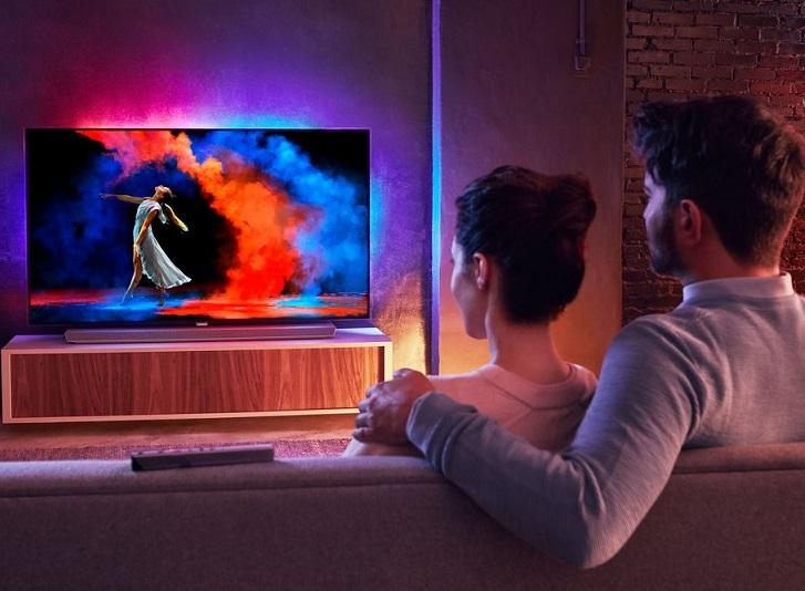 Philips OLED 973, TV de 65 pulgadas 4K con barra de sonido integrado