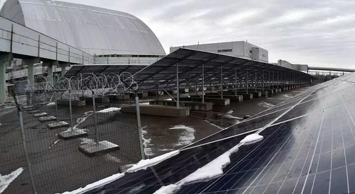 Chernóbil resurge como planta de energía solar