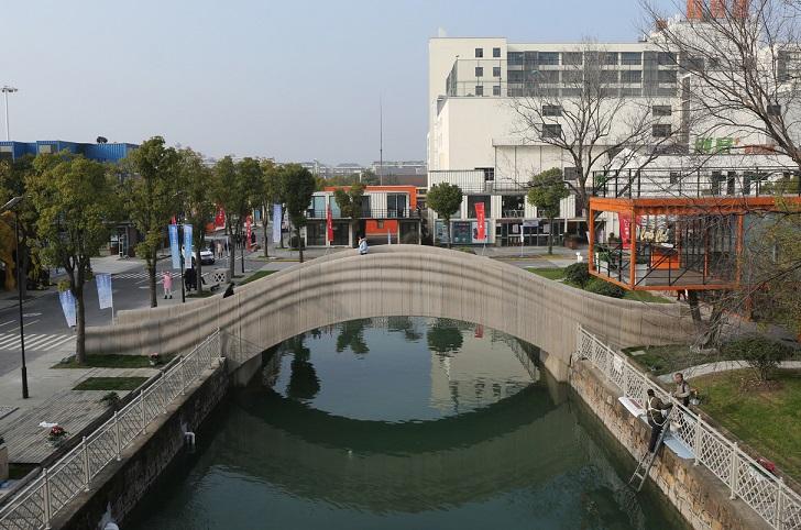 China: el puente de hormigón impreso en 3D más grande del mundo