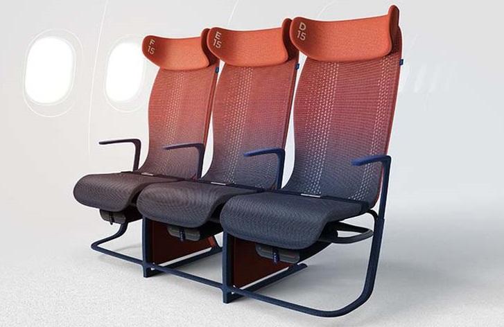 Los asientos de avión en el futuro