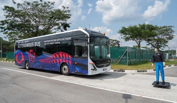 Volvo presenta el primer autobús autónomo para pasajeros