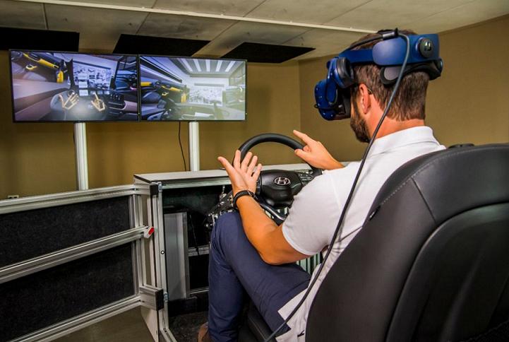 Asiento de Realidad Virtual, una herramienta muy util para los diseñadores de Hyundai
