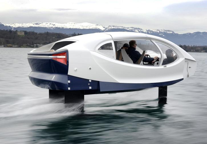 SeaBubbles: Moderna embarcación que ahorra energía elevándose sobre el agua
