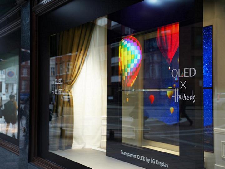 LG y sus pantallas OLED transparentes ya se exiben en algunas tiendas